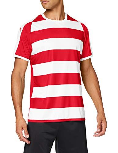 PUMA Men's Liga Stripe Jersey, Redpuma White, M