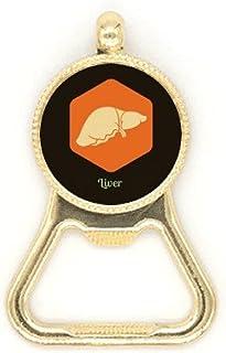 Body Organs Foie Orange Art Déco Cadeau Mode Décapsuleur Bouteille de Bière en Acier Inoxydable Porte-clés