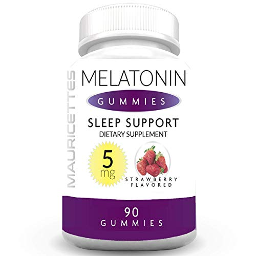 Melatonin Gummies for Kids and Adults Chewable Sleep Aid - 5mg Melatonin Per Serving - 90 Strawberry Gummy Vitamins (Packaging May Vary)