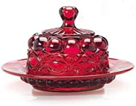 product image for Mosser Glass Eye Winker Butter Dish - Red Opal