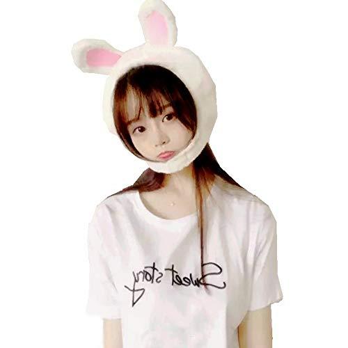 YDOZ Juguetes Super Lindas niñas Conejo Diadema de Conejo de Felpa Orejas de Conejo Aros Blanco Conejito Orejas Tocado Regalos para niña Herramientas fotográficas Selfie (Color : Rabbit 20X24cm)