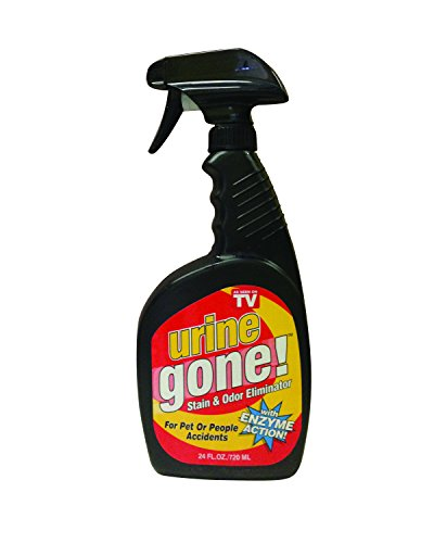 Urine Gone, S Stain & Odor Eliminator: Professional Strength Fast-Acting Enzyme-Based Solution, Instantly Penetrates and Neutralizes into the Fibers of a Carpet, Stops Pets from Remarking, 24 oz
