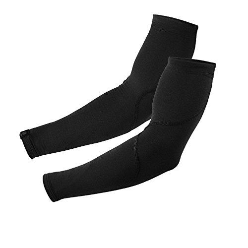 Snēk Cycling Merino Arm Warmers - Cycling Sleeves - S Black