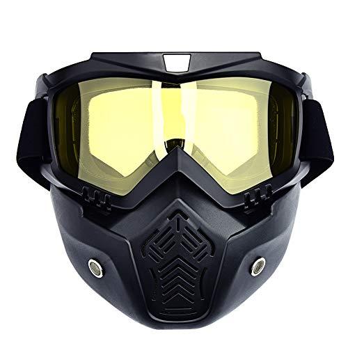 XIAMUSUMMER Motocross abnehmbare Motorradbrille Sonnenschutz Staubschutz Windschutz für Außen Fahrrad