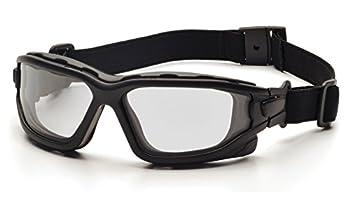 PYRAMEX I-Force Sporty Dual Pane Anti-Fog Goggle Black Frame/Clear Anti-Fog Lens