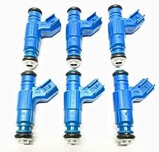 6PCS 0280156185 4L2E-G5A Fuel Injectors Fits 2004 For Ford Ranger Tremor XLT 2.3L l4 3.0L 4.0L V6