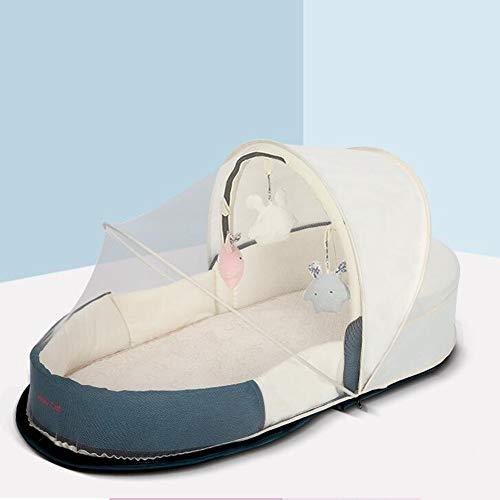 ZIXIANG Lits-Cages Pliantes Nouveau Née Lit Portable Lit Bionique Baby Lounger Berceau pour Chambre Voyage avec Moustiquaires Lits bébé Berceaux (Color : Green, Size : T1)