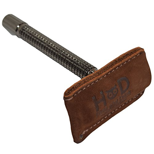 Hide & Drink, Leather Double Edge Safety Razor Head Protective Sheath, Shaving Travel Cover, Handmade Includes 101 Year Warranty :: Swayze Suede