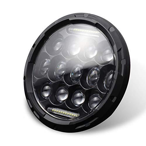 Cuasting 6,5 Pollici Un LED Moto Faro Hilo Testa della Lampada Lampadina DRL per Sportster Cafe Racer Bobber
