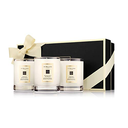 - Travel Candle Collection Lime Basil & Mandarin - English Pear & Fresia - Peony & Blush Suede each 2oz