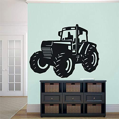 Vinilo Arte Diseño Etiqueta De La Pared Tractor Neumático Grande Granjero Decoración Para El Hogar Decoración Póster Para Niños