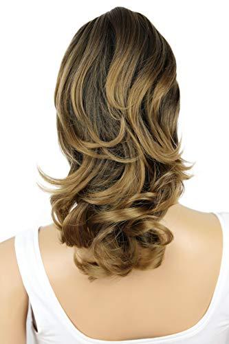 PRETTYSHOP 30cm Postiche Natte Queue De Cheval Extensions De Cheveux Volumineux Ondulé Mélange Brun H128