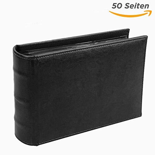 SAFE 4137 Banknotenalbum (schwarz)- Banknoten Sammelalbum mit 50 Seiten für 100 Scheine- Format 215 x 150 x 58 mm