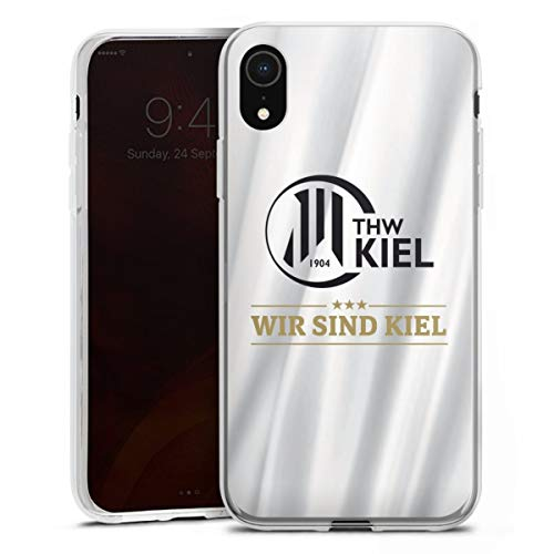DeinDesign Silikon Hülle kompatibel mit Apple iPhone Xr Case transparent Handyhülle THW Kiel Handball Offizielles Lizenzprodukt