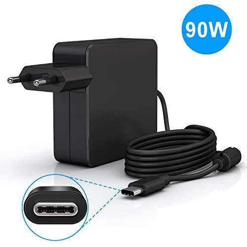 90W USB C Netzteil, PD Wandladegerät Typ C mit Schnellladegerät 90W (kompatibel mit 87W 61W, 45W, 30W und 12 W) für MacBook Pro Air 2018, HP, Dell, Lenovo und alle Laptops oder Smartphones
