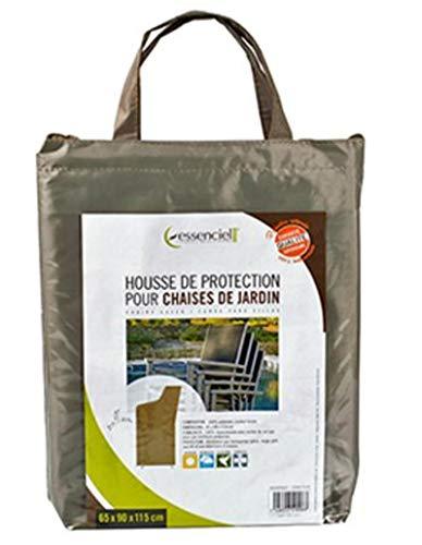 PEGANE Housse de Protection pour chaises de Jardin Coloris Taupe - Dim : 65 x 90 x 115 cm
