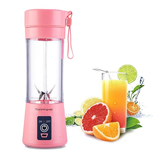 Personal Blender USB Juicer Cup Portable Juicer Blender 6 Blades Rechargeable...