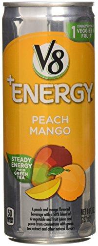 V8 V-Fusion + Energy, Peach Mango, 8 fl oz