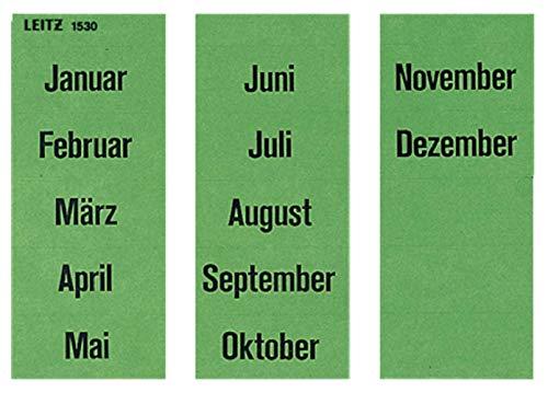 Leitz 15300000 Inhaltsschild Monatsnamen, selbstklebend, 100 Stück, grün