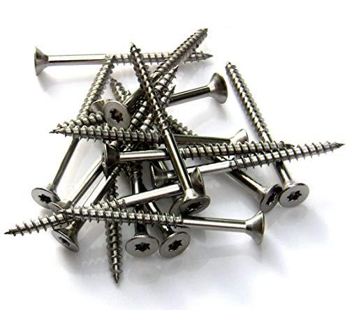 100 Stk. Spanplattenschrauben Edelstahl V2A Teilgewinde Torx 3x30->6x120 (3 x 30)