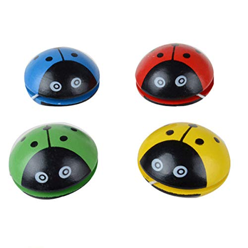Dzhzuj 2021 Wooden Ladybug Yoyo YOYO Ball Children's Creative Toys,Yo-Yo for Kids Beginner Yo-Yo Cute Wooden Yo-Yo,Creative Toys Gift for Child,4PCS