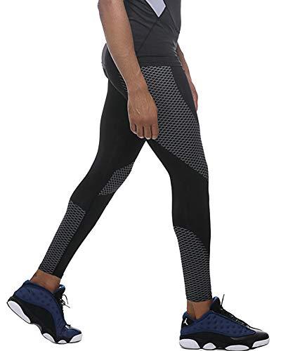 MISSMAO_FASHION2019 Herren Elastisch Schnell Trocken Strumpfhosen Schlanke Lange Hosen für Training Laufen Schwarz S
