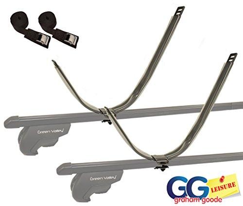 Barras J de soporte de kayak para el techo del vehículo, de ajuste universal