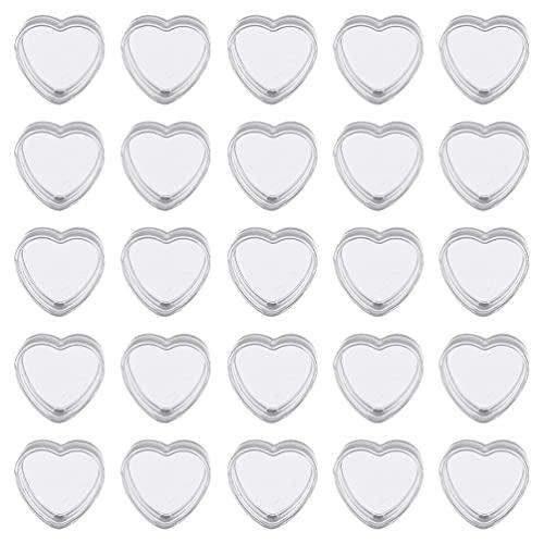 Balacoo 25 Unidades de Tarros Cosméticos Vacíos Transparentes Envases Cosméticos en Forma de Corazón Frasco de Maquillaje Botella de Muestra Mini Caja de Almacenamiento Portátil para