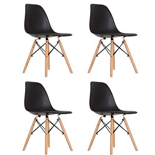 Conjunto 4 Cadeiras Eames Preta Dsw - Concept