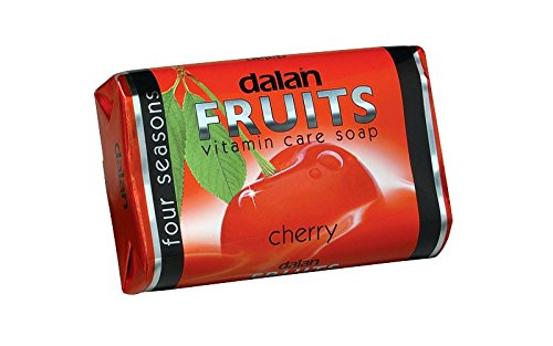 Dalan Fruits Vitamin Care Soap Cherry Soap - Set of 3 x 75g
