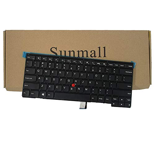 SUNMALL Keyboard Replacement with Frame for Lenovo ThinkPad T431 T431S E431 T440 T440P T440S E440 L440 T450 T450S T460 T460P L450 T440E Series Laptop US Black Layout