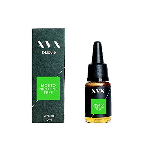 XVX E-Liquid Mojito Geschmack Elektronisches Liquid Für E-Zigarette Elektronische Shisha Liquid 10ml Flasche Nadelspitze Präzise Befllung Nikotinfrei