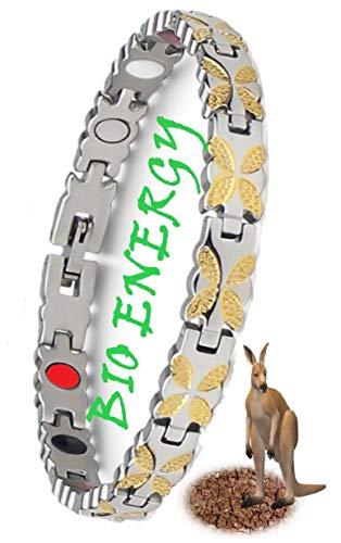 N3 ZELEK Bracciale Magnetico Regali Uomo Magnetico FORTE BIO TERAPIA Bracciale Uomo Regali Salute Bracciali Uomo Magnetici per Artrite Antidolorifico Regalo Uomo Donna Fascette da Polso Braccialetti