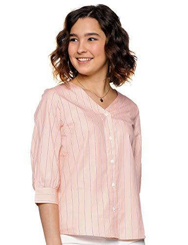Amazon Brand - Symbol Women's Striped Regular Shirt (INS-2601P_Pink XX-Large)