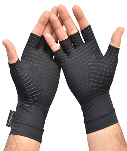 Medipaq® Anti Arthritis Fingerless Copper Compression Therapy Gloves …