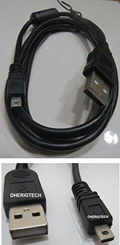 Panasonic DMC-TZ5Digitalkamera–Silber (9.1mp, 10x optischer Zoom) 7,6cm LCD Kamera USB Daten Sync Kabel für PC/Mac