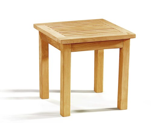 Teak Wood Occasional Square Garden Side Table - Jati Brand, Quality & Value