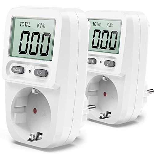 Zaeel Misuratore dei costi energetici,Misuratore di consumo Dell'Energia Elettrica con schermo LCD,Protezione da Sovraccarico, Potenza Massima 3680W