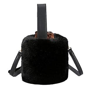 [インモーニング] 2way ファーバッグ ショルダーバッグ レディース 斜めがけバッグ ミニバッグ ふわふわ ボリューミファーバッグ トートバッグ 秋冬 大人 かわいい ブラック