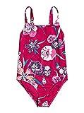 Roxy Little Wanderer One Piece Girls Swimsuit Age 14 Cerise Pansies