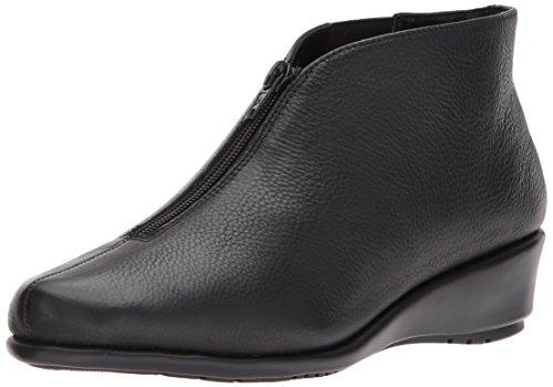 Aerosoles Women's Allowance Ankle Boot, Black Leather, 7.5 M US
