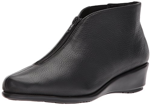 Aerosoles Women's Allowance Ankle Boot, Black Leather, 6 M US