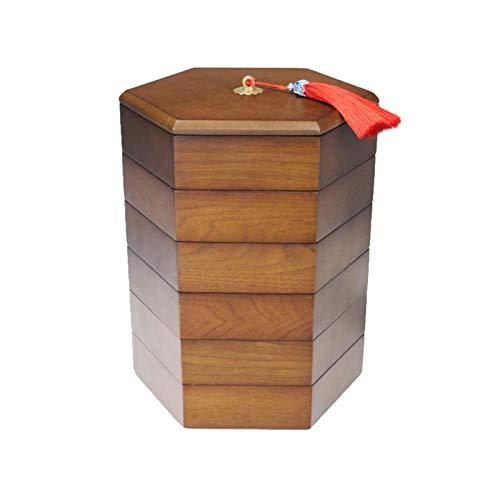 YANGYUAN Caja de Frutas secas de Madera, Bandeja seccional de contenedor de bocadillos con Tapa, Fuente de Servir de Fiesta para Caramelo/Tuerca/Dulces Galletas (Size : 25cm)