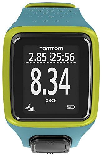 TomTom Runner Watch GPS de Mano, Hombres, Turquesa y Verde, M