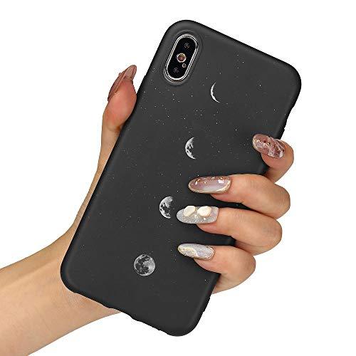 LLZ.COQUE Handyhülle Kompatibel mit iPhone X/Xs Hülle Gänseblümchen Schutzhülle TPU Hülle Slim Hülle Cover Mond matt Handyhülle für iPhone X/Xs Hülle Mond