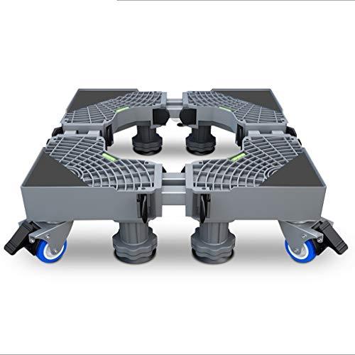 SHYPT Soporte de suelo ajustable para lavadora con base móvil para frigorífico, nevera, soporte universal para carro de máquina