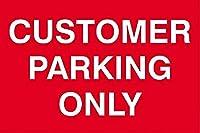 顧客駐車場のみ 金属板ブリキ看板警告サイン注意サイン表示パネル情報サイン金属安全サイン