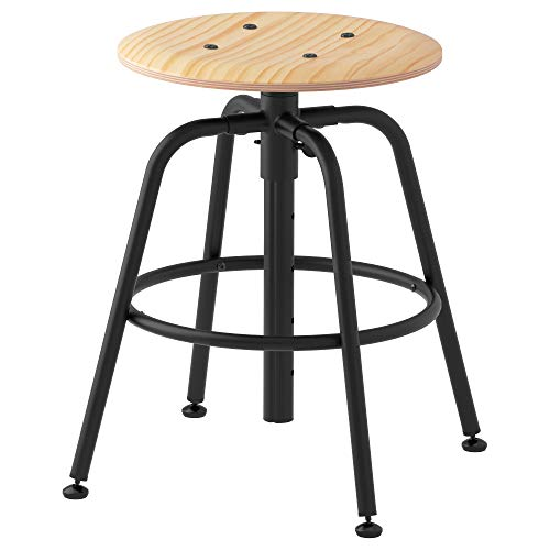 IKEA Kullaberg Hocker, Kiefer, schwarz