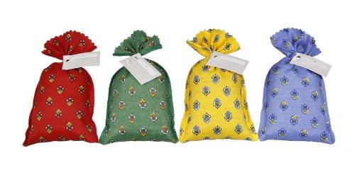 8 x Lavendelsäckchen mit klassischem Stoffmuster - gefüllt mit je 20g Lavendel aus der französischen Provence