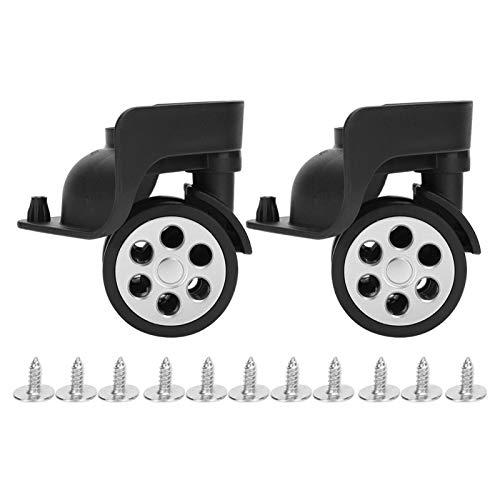 Rueda de repuesto para maleta con ruedas silenciosa de doble fila, antidesgaste para bolsas de equipaje